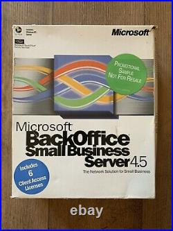 Microsoft Back Office Small Business Server 4.5 Rare Never Used