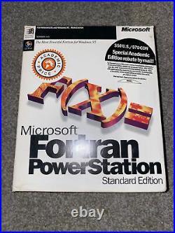 Microsoft Fortran PowerStation Professional Development System 4.0 WIndows 95