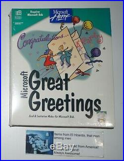Microsoft Great Greetings Microsoft BOB Software BRAND NEW STILL SEALED