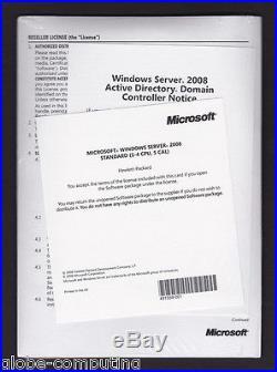 Microsoft HP ROK Windows Server 2008 Standard Edition inc 5 CAL 1-4 CPU