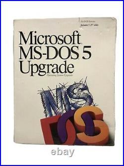 Microsoft MS-DOS 5 Upgrade PC 3.5 Floppy Factory Sealed