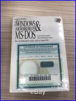 Microsoft MS-DOS 6.22 and Windows for Workgroups(V. 3.11) Full Version