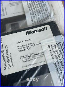 Microsoft MS-DOS 6.22 and Windows for Workgroups V. 3.11 Full Version
