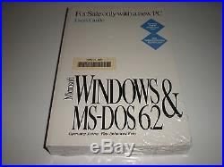 Microsoft MS-Dos 6.2 with Windows 3.1 license pak & manual. No disks. Genuine