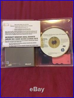 Microsoft MS Windows Small Business Server SBS 2011 Standard HP ROK COA 5 CALs