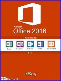 Microsoft Office 2016 Professional with 5 User CALs Full Retail FPP