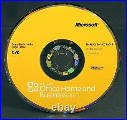 Microsoft Office Home and Business 2010 Vollversion Englisch Box, DVD + SP1 OVP