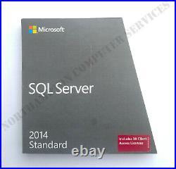 Microsoft SQL Server 2014 Standard with 10 CALs OEM Retail 228-10253 VAT