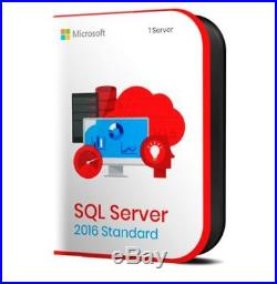 Microsoft SQL Server 2016 Standard 16 Core Retail License Key INSTANT DELIVERY