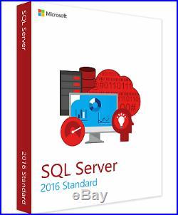 Microsoft SQL Server 2016 Standard Full 24 Core License Digital Delivery