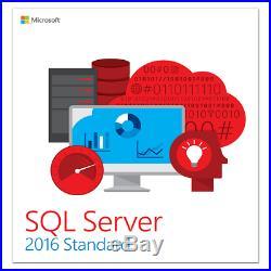 Microsoft SQL Server 2016 Standard Retail Core