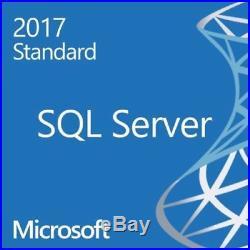 Microsoft SQL Server 2017 Standard No CALs Required 32 Core License