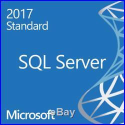 Microsoft SQL Server 2017 Standard No User CAL Required 16 Core License + USB