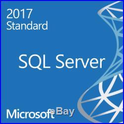Microsoft SQL Server 2017 Standard Unlimited CALs