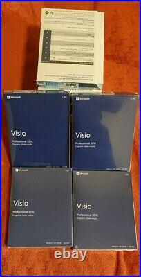 Microsoft Visio Professional 2016. 1 PC/Windows. Brand NewithSealed
