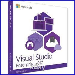 Microsoft Visual Studio Enterprise 2017 Digital Licence (Authorized Partner)