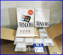 Microsoft WINDOWS Operating System 3.1 Vintage Computing PC Discs Manual BOXED