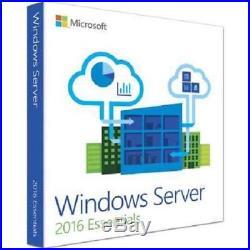Microsoft Window Server 2016 Essentials x64 64 bit 1 SERVER w. CERTIFICATE