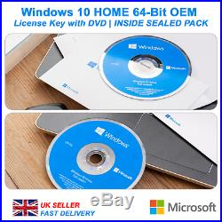 Microsoft Windows 10 Home 64-Bit License with DVD SEALED PACK