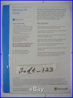 Microsoft Windows 10 Home Full English Version 32/64 Bit USB MS WIN =RETAIL BOX=