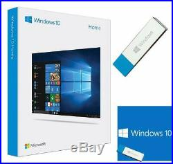 Microsoft Windows 10 Home USB Drive 64 Bit Full Version- Brand New Retail Sealed