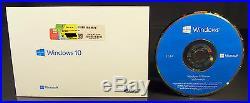 Microsoft Windows 10 Home Vollversion SB 32-Bit Hologramm-DVD Deutsch OVP NEU
