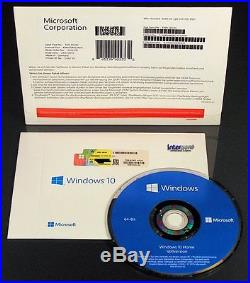 Microsoft Windows 10 Home Vollversion SB 64-Bit Hologramm-DVD Deutsch OVP NEU