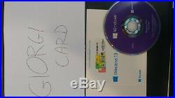 Microsoft Windows 10 PROFESSIONAL COA Sticker key license 10x-WIN 10 Pro+BOX+DVD