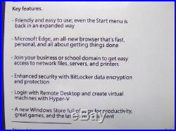 Microsoft Windows 10 Pro 32/64-BIT Professional UK RETAIL USB FQC-08789 GENUINE
