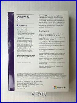 Microsoft Windows 10 Pro 32-bit/64-bit ENG International USB RS Retail Sales