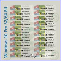 Microsoft Windows 10 Pro 64 Bit DVD+COA Key Sticker, Seasonal Offers (10pcs) Lot