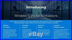 Microsoft Windows 10 Pro 64-bit for Workstations License 1 License OEM