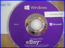 Microsoft Windows 10 Pro 64 bit x64 64 Bit DVD Full English MS WIN 10=BRAND NEW=