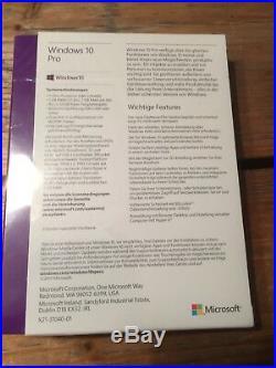 Microsoft Windows 10 Pro, Deutsch, 32 /64 bit USB, BOX mit MwSt Rechnung