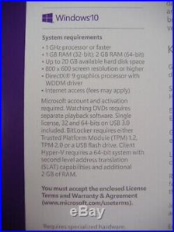 Microsoft Windows 10 Pro Full English 32/64 Bit USB MS WIN =RETAIL BOX=