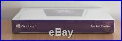 Microsoft Windows 10 Pro Full Version New UK Genuine Retail Box (FQC-08789)