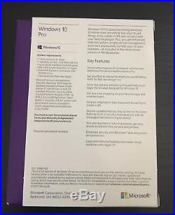 Microsoft Windows 10 Pro USB 3.0 32/64 Bit New Sealed Box
