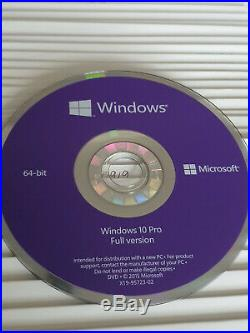 Microsoft Windows 10 Professional 64bit Install DVD DISC only, MS Originals