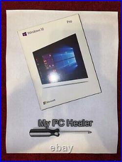 Microsoft Windows 10 Professional License Key 64 Bit Official Install DVD / USB