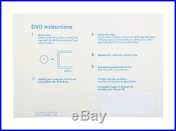Microsoft Windows 10 Professional Retail Key and 64 Bit Official Install DVD