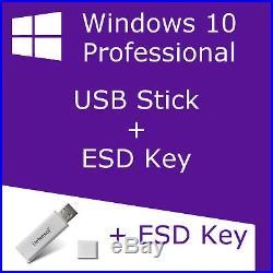Microsoft Windows 10 Professional auf USB3.0 Stick 16GB inkl. Schlüssel Pro 1803