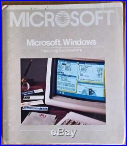 Microsoft Windows 1.03 1.0 + Paintbrush + Write 5.25 Floppy Disks & Manuals