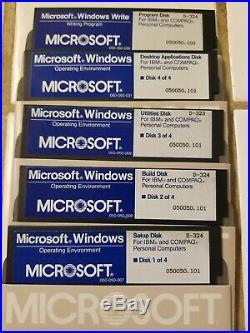 Microsoft Windows 1.0 OS Vintage Software 5.25 Floppy Disk Operating Environment