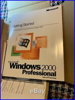 Microsoft Windows 2000 Professional Full Version Boxed Complete