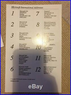 Microsoft Windows/286 Ver 2.1 5.25 RETAIL BOXED + Manuals etc VERY RARE 1988
