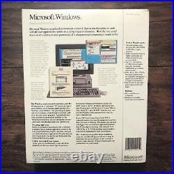 Microsoft Windows 3.0 New Big Box Sealed 3.5 & 5.25 Disks NEW NOS Vintage