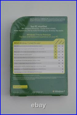 Microsoft Windows 7 Home Premium Brand New & Sealed 100% Genuine