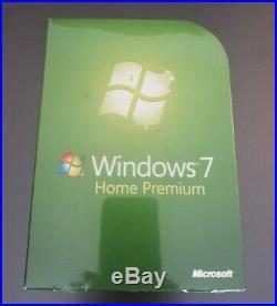 Microsoft Windows 7 Home Premium Retail Genuine Full GFC-00019 NEW 32/64-Bit