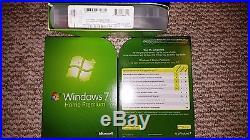 Microsoft Windows 7 Home Premium, SKU GFC-00019, Sealed Retail Box, 32-bit, 64-bit