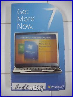 Microsoft Windows 7 Home Premium to Professional Anytime Upgrade =NEW SEALED=